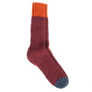 sokken bordeaurood